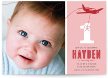 The Birthday Plane Children's Birthday Party Invitations