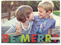 Simple Merry Christmas Photo Cards