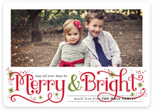 Merry and Bright Sparkles Christmas Photo Cards