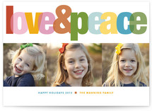 Love & Peace Christmas Photo Cards