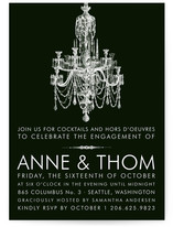 Chandelier Engagement Party Invitations