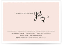 He Asked Engagement Party Invitations