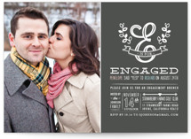 E is for Engaged Engagement Party Invitations