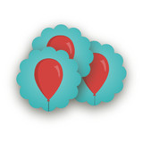 Party Balloons by GeekInk Design