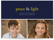 Peace & Light by emily elizabeth stationery