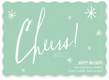 Cheers to You Holiday Non-Photo Cards