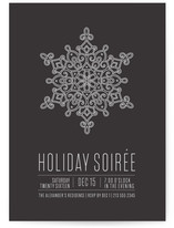 Snowflake Soiree Holiday Party Invitations