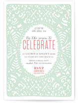 Cutout Christmas Celebration Holiday Party Invitations
