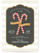 Candy Cane Banner Holiday Party Invitations