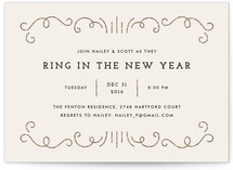 Glitzy New Year Holiday Party Invitations