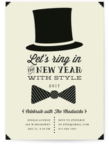 Black Tie Holiday Party Invitations