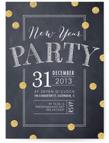 Confetti Blackboard Holiday Party Invitations