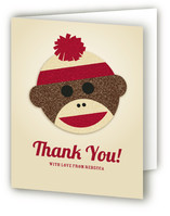 Sock Monkey Baby Shower Thank You Cards