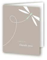 Swooping Dragonfly Baby Shower Thank You Cards