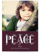 Festive Noel Holiday Photo Cards