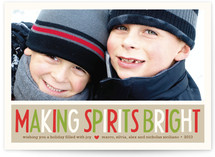 Making Spirits Bright Holiday Photo Cards