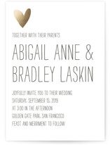 Passing Notes Foil-Pressed Wedding Invitations