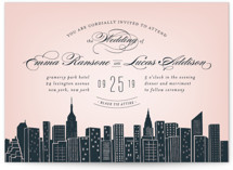 Big City NY Foil-Pressed Wedding Invitations