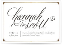 Fanciful Names Foil-Pressed Wedding Invitations