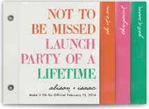 Launch Party of a Lifetime Wedding Invitation Minibook™ Cards