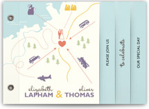 Destination Wedding Invitation Minibook™ Cards
