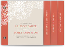 White Lace Wedding Invitation Minibook™ Cards