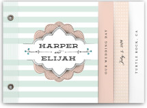 Striped Sweet Nothings Wedding Invitation Minibook™ Cards