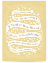 Ribbon + Field Wedding Invitations