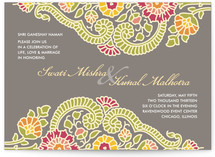 Modern Maharani Wedding Invitations