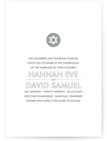 Modern Star Wedding Invitations