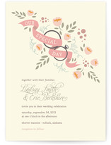 Ring Bouquet Wedding Invitations