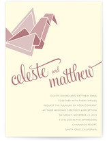 Wedding Cranes Wedding Invitations