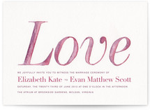 Blushing Wedding Invitations