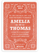 Fiesta Folk Art Wedding Invitations