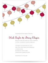 Vintage Lanterns Wedding Invitations