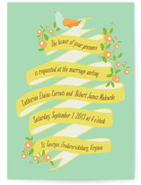 Bannered Wave Wedding Invitations