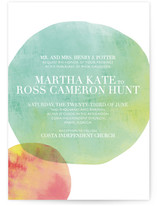 Watercolor Dots Wedding Invitations