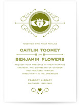 Contemporary Claddagh Wedding Invitations