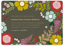 Ladybug Garden Wedding Invitations