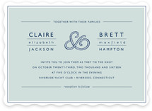 Rope Ampersand Wedding Invitations