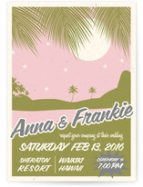 Retro Hawaii Wedding Invitations