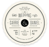 Vintage Ampersand Wedding Invitations