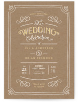 Hand Delivered Wedding Invitations