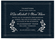 Vintage Stitch Wedding Invitations