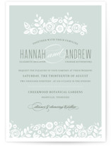 White Shadows Wedding Invitations