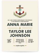 Nautical Campy Love Wedding Invitations
