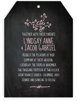 Dusty Chalkboard Wedding Invitations