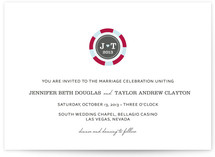 Vegas or Bust Wedding Invitations