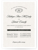 Classic Claddagh Wedding Invitations