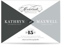 Mingle Graphic Wedding Invitations